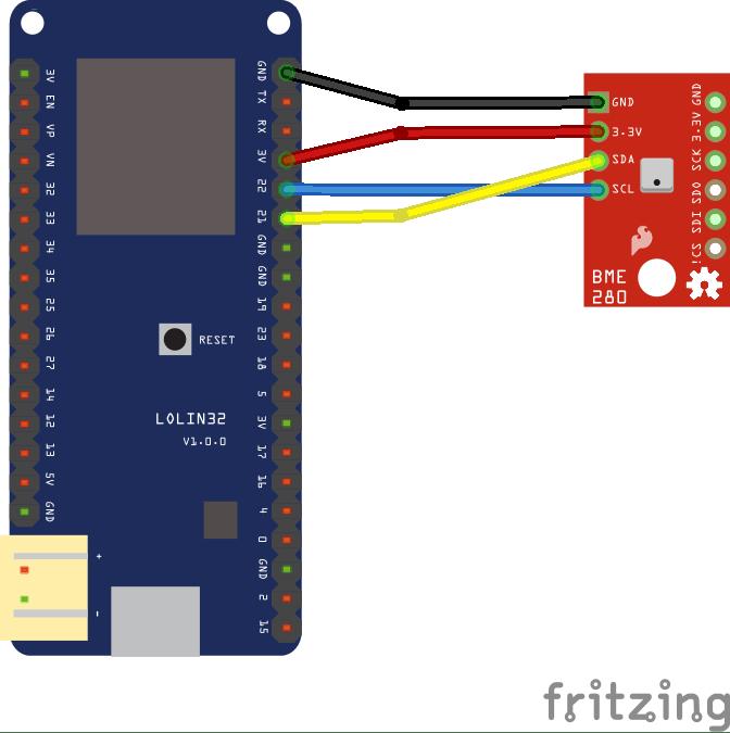 ESP32 and bme280 temperature sensor example | ESP32 Learning