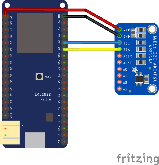 ADS1115 analog-to-digital converter and ESP32 | ESP32 Learning